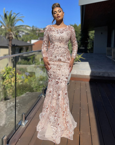 Jadore JX5057 Gown - Rose Gold