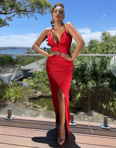 Jadore JX5069 Gown - Red