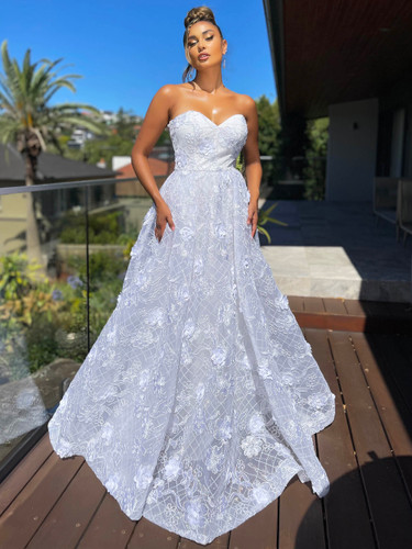 Jadore JX5077 Gown - Ivory