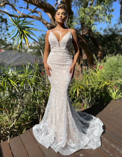 Jadore JX5053 Gown - Ivory/Nude