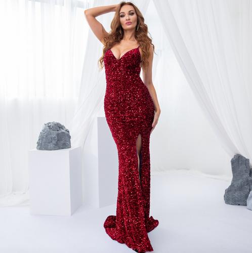 Mila Label Aviva Gown - Red