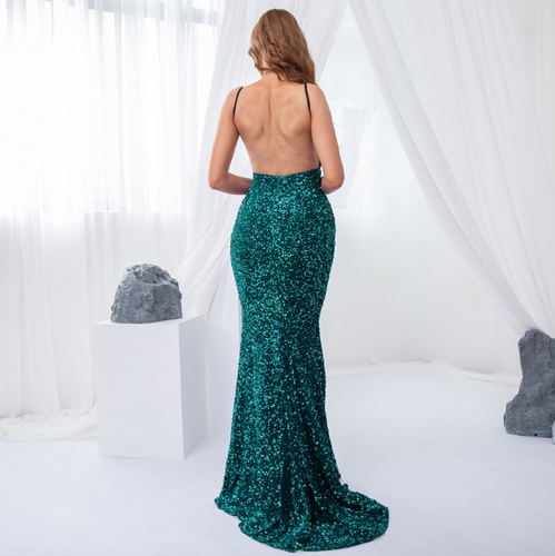Mila Label Aviva Gown - Emerald