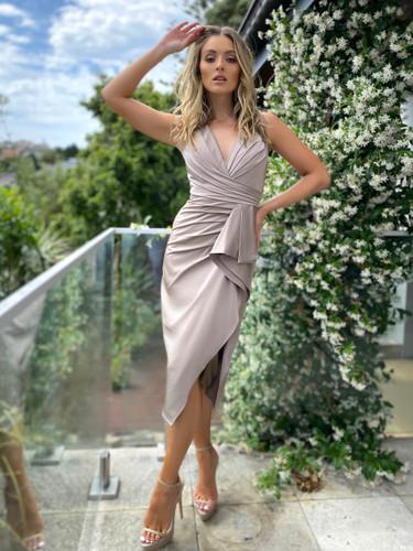 Jadore JX5025 Dress - Mink