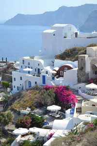 Oia 2 - Santorini Greek Islands Limited Edition - Canvas Mounted Photo Print