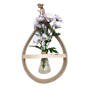 Wooden Teardrop Vase - 100ml conical flask  Stix & Flora