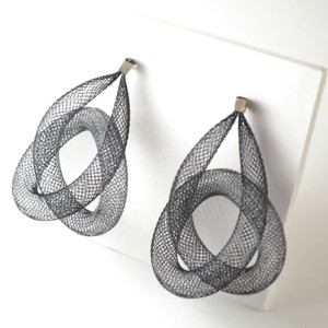 Workshop85 - Sophia Emmett - Pierced Earrings - Single Knot Black