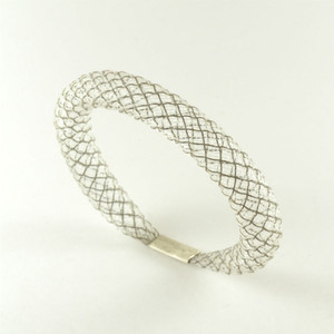 Workshop85 Sophia Emmett - Bracelet - Thin White Reflective Mesh series