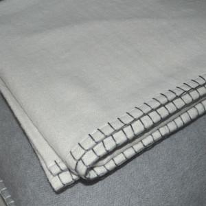 Casetta Living - Blanket Stitched Blanket 170cm x 130cm - Colour: Natural