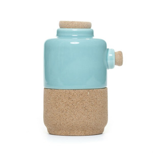 Alma Gemea - Portuguese Ceramic and Cork, Creamer or Sugar dispenser - Soul Mate Collection Colour: Blue