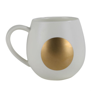 Robert Gordon - Moon Mug - White and Gold