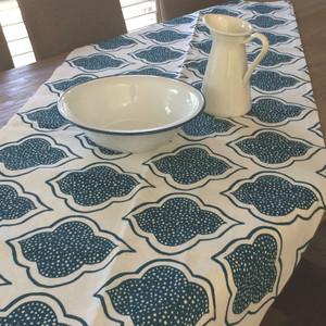 Table Cloth - Lanterns Range Navy