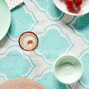Table Cloth - Lantern Aqua