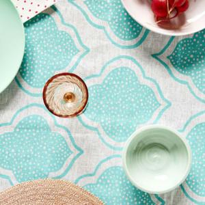 Table Cloth - Lantern Aqua