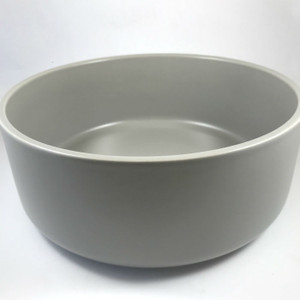 Mint Home - Sienna Salad Bowl 24.5cm diameter x 10cmH, Iron Grey