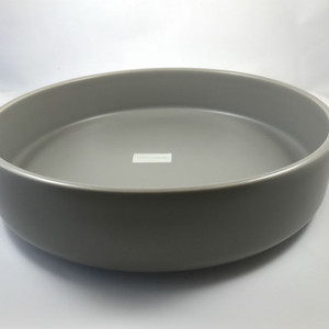 Mint Home - Sienna Shallow Bowl 31cm diameter x 7.5cmH, Iron Grey