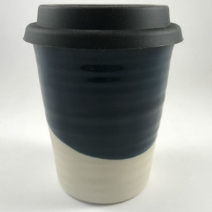 Robert Gordon - Carousel Coffee  Cup 375ml- Half Moon with black silicone lid