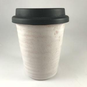 Robert Gordon - Carousel Coffee Cup Large 375ml - Rose Quartz with black silicone lid