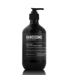 HANDSOME Men's Skincare - Organic Body Wash - Organic Lime /  Banksia / Bergamot - 500ml