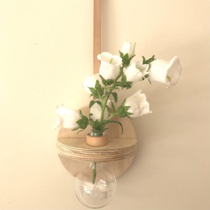 Stix & Flora - Hoopla Vase - Single 100ml Round Flask - small