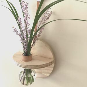 Stix & Flora - Hoopla Vase - Single 250ml Round Flask - medium (flowers not included)