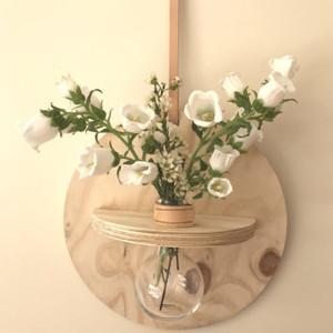 Stix & Flora - Hoopla Vase - Single 250ml Round Flask - large (flowers not included)