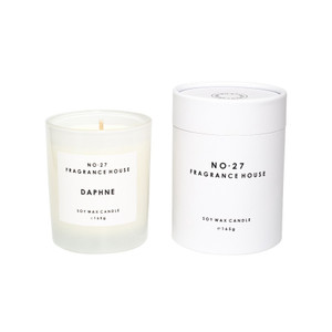 No.27 Fragrance House - Candle in Frosted Glass and Packaging - Daphne - 165g 35 hours burn time