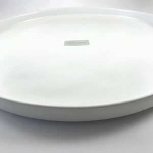 Kaia Round Small Serving Platter - 27.5cm diameter x 2cmH in Matte White