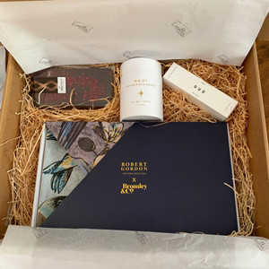 Bromley Gift Pack :  Comprising of Robert Gordon x Bromley & Co. Rectangle Platter, No27 Fragrance House Candle, OUD Handcream & Lizzy's Chocolate with Handwritten note