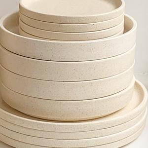 Robert Gordon Platform Dinnerware (Sand) - 4x Dinner Plates, 4x Side Plates and 4x Bowls
