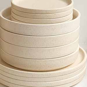 Robert Gordon Platform Dinnerware (Sand) - 4x Dinner Plates, 4x Side Plates and 4x Bowls