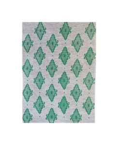 Linen Tea Towel - Arabesque Bayleaf Green 70 x 50cms