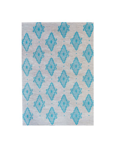 Linen Tea Towel - Arabesque Light Blue 70 x 50cms