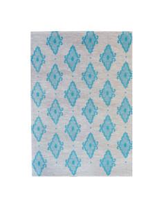 Linen Tea Towel - Arabesque Light Blue 70 x 50cms
