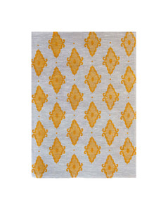 Linen Tea Towel - Arabesque Yellow 70 x 50cms