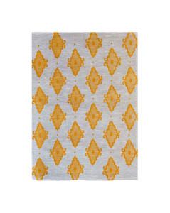 Linen Tea Towel - Arabesque Yellow 70 x 50cms