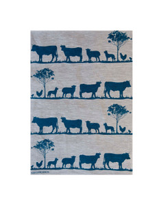 Linen Tea Towel - Paddock Navy 70 x 50cms