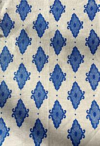Linen Tea Towel - Arabesque Cobalt 70 x 50cms