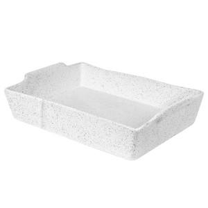 Robert Gordon - BAKER Rectangle - White Granite Feast - 33cm x 23cm x 6cm,  2.4kg
