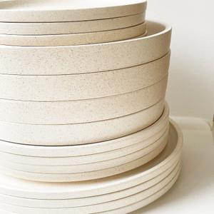 Robert Gordon Platform Dinnerware (Sand) - 4x Dinner Plates, 4x Entree Plates, 4x Side Plates and 4x Bowls