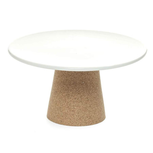 Alma Gemea,  Portuguese Ceramic and Cork Cake Stand - Pearl Comes in Pearl colour only