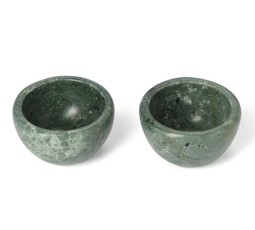 Marble Basics - Salt and Pepper Vessels (set of 2) - Colour: Moss