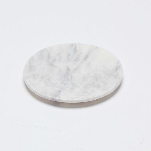 Marble Basics - Baby Blanc Flared Dish, Diameter 12cms