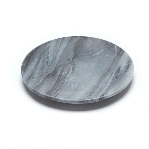 Baby Noir Flared Dish - Colour Noir - Charcoal & Black with Grey veins  12cms Diameter