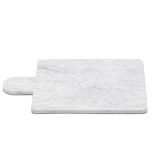Marble Basics - Marble Cheese Paddle in Colour Blanc  40 cms x 28cms