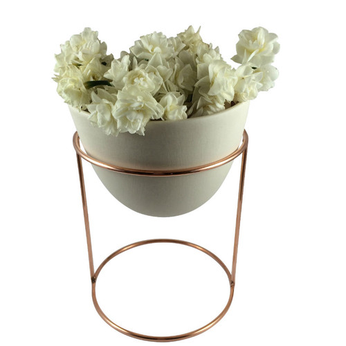 Ivy Muse - Nest Range Copper Plated Stand with Peach Eggshell Pot