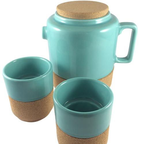 Alma Gemea - Sateen, 3 Piece Tea Set - Soul Mate Collection Colour: Blue