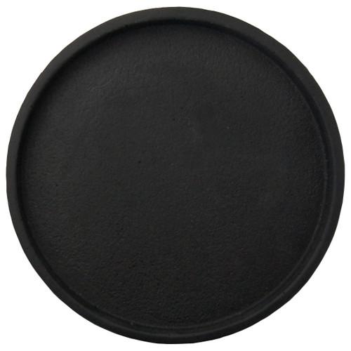 Zakkia - Black Round concrete Tray- 30cms diameter
