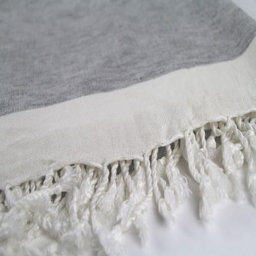 Oasis 100% Cotton Throw in Grey - 190cm x 160cm