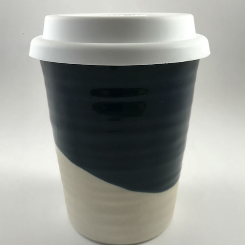 Robert Gordon - Carousel Coffee  Cup 375ml- Half Moon with white silicone lid
