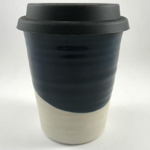 Robert Gordon - Carousel Coffee  Cup 375ml- Half Moon with black silicone lid